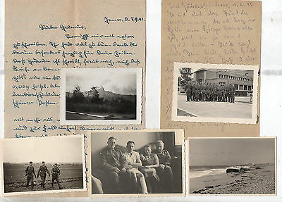 German Ww2 Soldiers Letters Sept 1941/feb 1945+Photos-Troops-Places