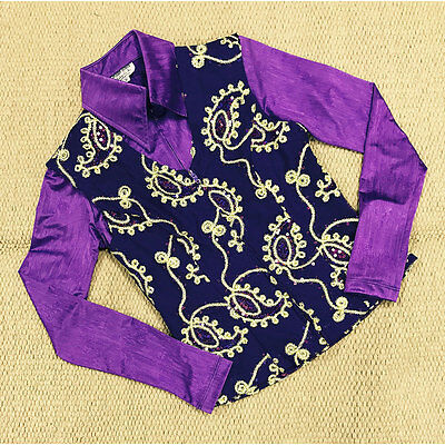 2604-10 Hobby Horse Women's Purple Lariat Horse Show Vest - Limited Edition NEW