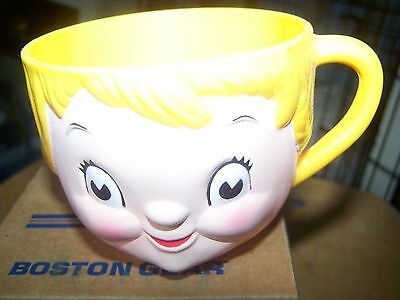 campbell's kid head collectible plastic mug