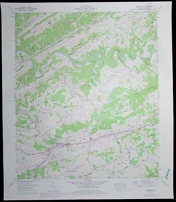 Lebanon Virginia Clinch River vintage 1978 old USGS Topo chart