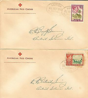 British Solomon Is 1939-51 1/2d to 10/- set (13) all on covers