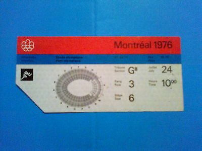 Ticket Olympic Games MONTREAL 24.07.1976 - ATHLETICS (10:00)