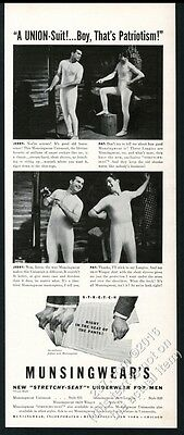 1941 Munsingwear underwear 2 men photo Boy That's Patriotism vintage print ad