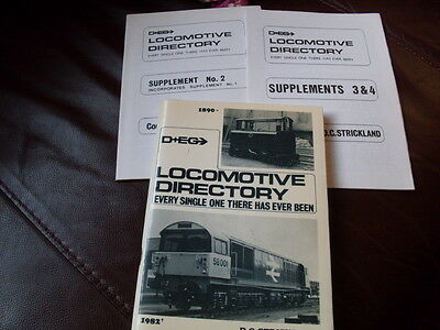 Locomotive Directory; Everyone there ever was. inc Supplements D&EG