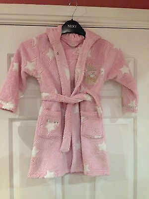 Girls Disney Hooded Dressing Gown Age 18-24