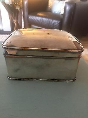 Lovely Old Silver Box. Unsure if Silver Or Silver Plate Over Brass