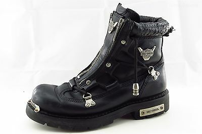 Harley-Davidson Black Leather Zip Motorcycle Women Size 8