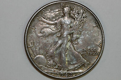 Grades About Uncirculated 1942 P Liberty Walking Silver Half Dollar (WL1109)
