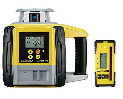GeoMax Zone60HG Semi-Automatic Dual Grade Laser With ZRP105 Pro Receiver 6010660