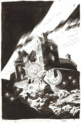 B.P.R.D.: The Universal Machine #1 Cover - 2007 Signed art by Mike Mignola