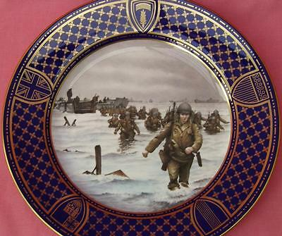 Spode Operation Overlord Plate Omaha Beach 50Th Anniversary D-Day Landings Boxed
