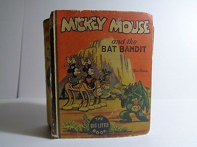 Mickey Mouse and the Bat Badit 1153 (G+) Whitman 1935 Big Little Book (c#12350)