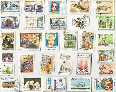 A  Fresh New Selection Of Kiloware Stamps From Caribbean Islands