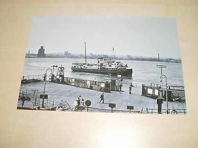 1975 Photograph Liverpool Woodchurch Ferry At Landing Stage Modern Print Off Old
