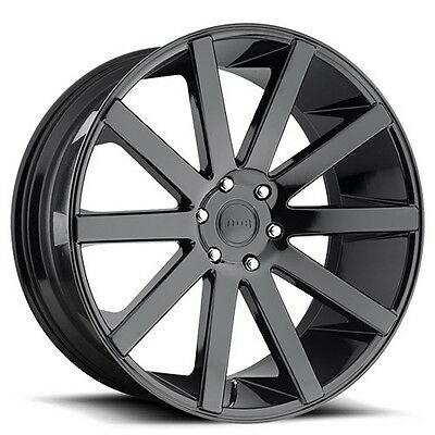 "22"" Dub Wheels Rims Shot Calla S219 Gloss Black"