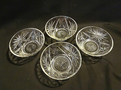 Anchor Hocking EAPC - Set of 4 Clear Small Dessert Bowls