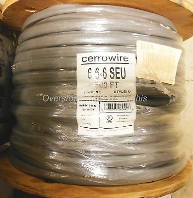 6/3 Cerrowire 6-6-6 SEU #130-3600J Copper Service Entrance Cable Cut-to-Length