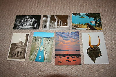 A collection of Greece postcards from the 1900s.