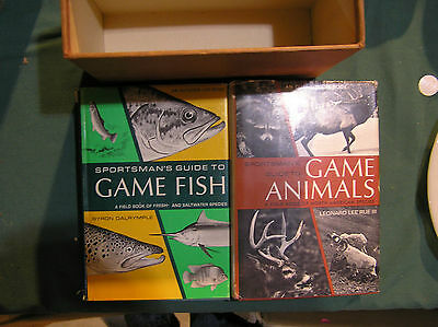 Outdoor Life books: Game Fish and Game Animals set two books 1968