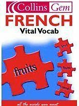 French Vital Vocab (Collins Gem), Good Condition Book, Not Stated, ISBN 97800071