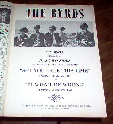 Billboard Magazine 1966 Cool RARE Byrds Ad The Beatles #1 Album Rubber Soul