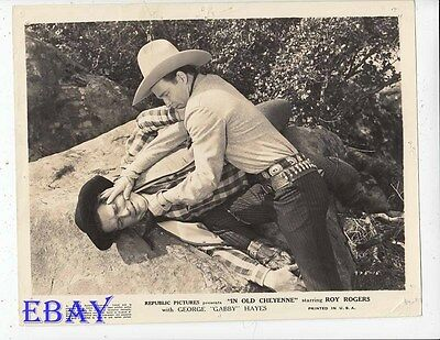 """2003 Vintage COWBOY /""""IN OLD CALIENTE ROY ROGERS MINI POSTER Art Plate Lithograph"""