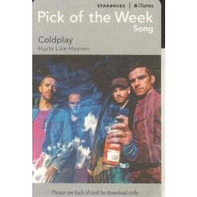 COLDPLAY Hurts Like Heaven CARD UK 2011 Promo Download Card