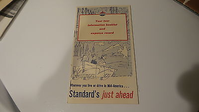 1956-58 Standard Oil Trip Guide, Map, Vacation,expense Record