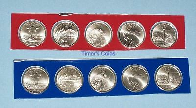 2007 P and D Satin BU State Quarters - Ten Coins-Mint Set Packaging