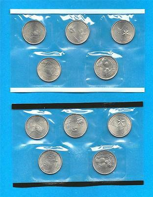 2004 P and D State Quarters - BU Uncirculated-still in mint cellos-TEN COINS