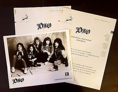 RARE Dio Press Kit for Lock Up the Wolves! Ronnie James! Photo L34