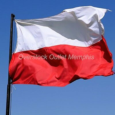 National Flag of Poland 4ft x 6ft Poly/Nylon & Cotton brass grommets reinforced