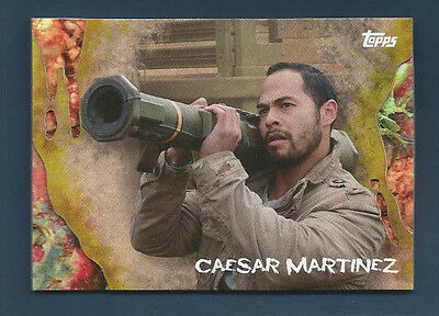 2016 Topps Survival Walking Dead Caesar Martinez  Infected Parallel #38 (#90/99)
