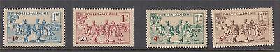 ALGERIA, 1940 Soldiers Dependents Relief Fund set of 4, lhm.
