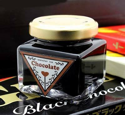 Wancher Colorful Japan Fountain Pen Ink Bottle 35 ml Chocolate Brown Authentic