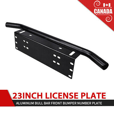 License Plate Frame Front Bumper Aluminum Bull Bar Light Holder Mounting Bracket