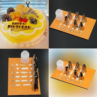 DIY 6 Style Flower Icing Piping Nozzles Cake Decoration Tip Baking Tool
