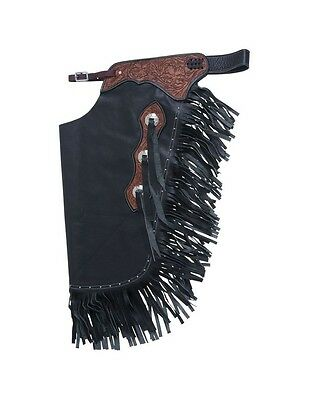 Tough-1 Western Chinks Floral Yoke Smooth Leather Show 63-925