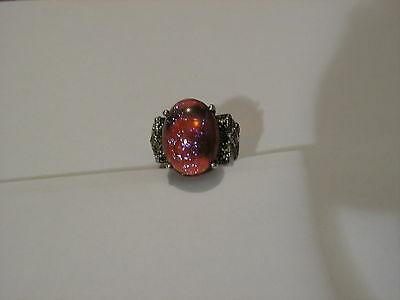 ...Sterling Silver,Marcasites,Dragon's Breath Ring...