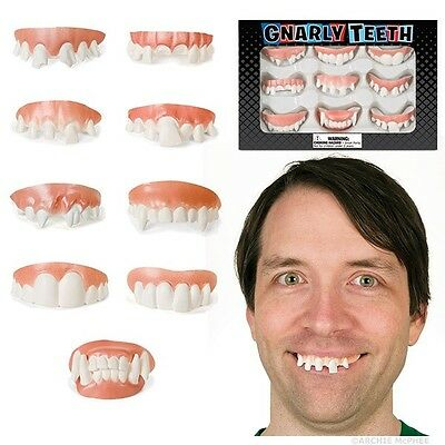 Set of 9 Gnarly Fake Costume Teeth!