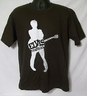Very Rare Brand New Licensed Elvis Costello & The Imposters Large Brown Shirt!!!