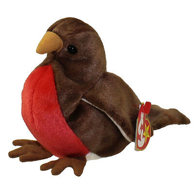 TY Beanie Baby - EARLY the Robin (4.5 inch) - MWMTs Stuffed Animal Toy