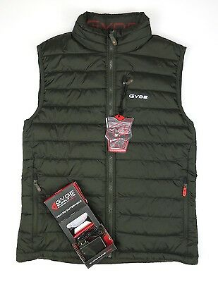 NEW $250 Mens Gyde Battery Powered By Gerbing Heated Calor Puffer Vest Green