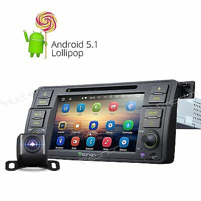 """CAM Android 5.1 7"""" in Dash Car DVD Player GPS Nav WiFi BT for BMW 3 Series E46 E"""