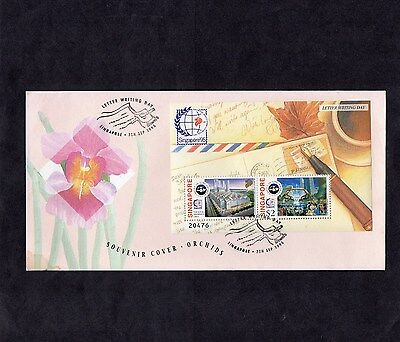 Singapore.1995.letter Writing Day Fdc.1998 Singapore-Australia Joint Issue Fdc.