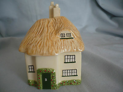 A Beautiful Pottery Thatched Cottage Condiment Jar Marks & Spencer