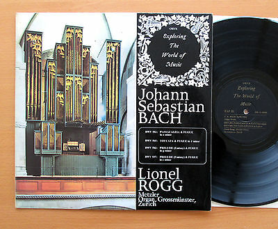 EXP 21 Lionel Rogg JS Bach Organ Works Vol. 1 ORYX Stereo Vinyl EXCELLENT