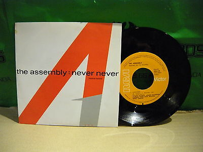 THE Assembly ‎– Never Never ' 7'' MINT  SPAIN PRESS