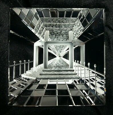 Steinbach 3D Glass Images. Pyramid Crystal Entrance Scene. Perfect Condition.