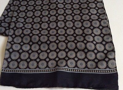 Mens VINTAGE SCARF PAISLEY Gents Patterned Geometric Hipster Retro 70's Mod
